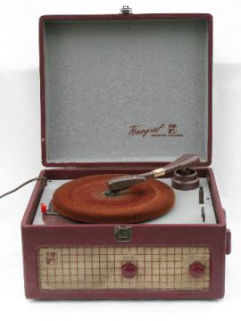Vintage vacuum tube Webster-Chicago portable phonograph turntable