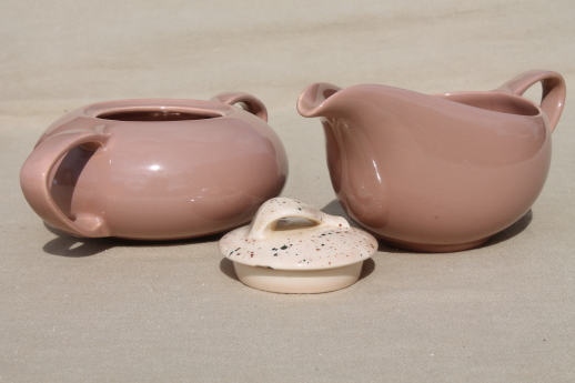 Vintage Vernonware California pottery tableware, Heyday pattern serving pieces