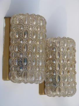 Vintage wall sconce lighting fixtures w/iridescent bubble glass shades