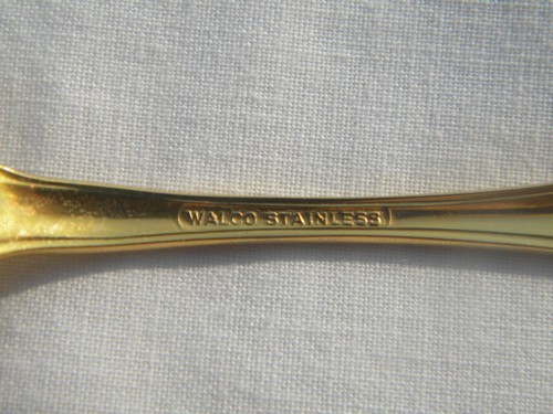 Vintage Wallace gold plated flatware, setting for 5, serving pieces