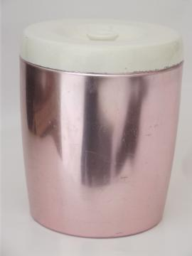 Vintage West Bend spun aluminum cookie jar or huge canister