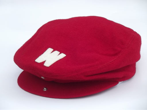 Vintage college beanie cap