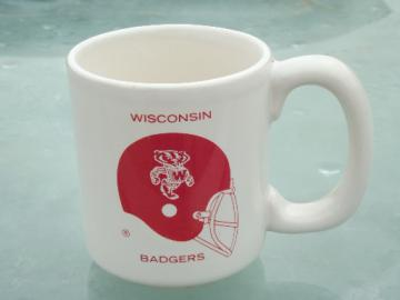 Vintage  Wisconsin Badgers mug from Chase & Sandborn coffee, old logo