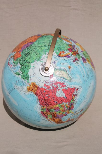 vintage world globe w/ Soviet era map, Replogle World Nations 1960s or 70s?
