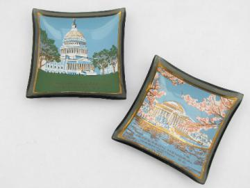 Washington DC landmarks, tiny painted plates, vintage Houze glass?