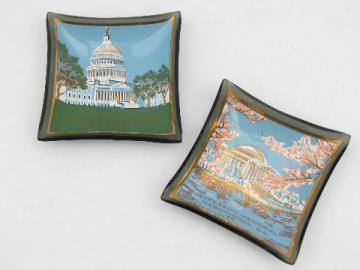 Washington DC landmarks, tiny painted plates, vintage Houze glass?
