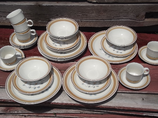 watercolors stoneware dishes set for 6 retro hearthside japan dinnerware