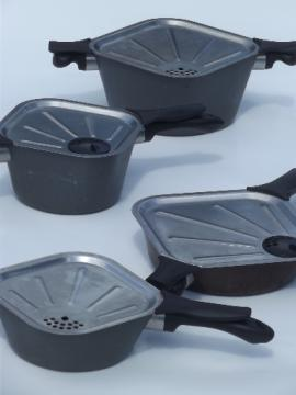 Wearever Air square cookware, vintage WearEver aluminum pots & pans lot