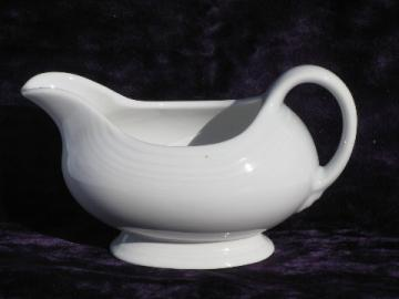 White Fiesta - Homer Laughlin pottery gravy boat or sauce pitcher