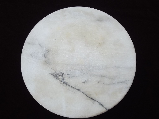 White Marble Alabaster Cheese Board Tray Round Lazy Susan