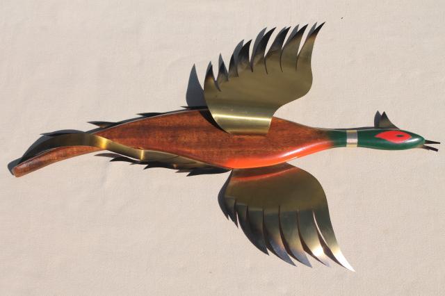 Wild Game Birds Vintage Wood Bird Wall Plaques W Metal