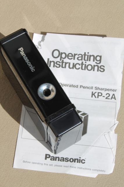 Working Panasonic Battery Operated Pencil Sharpener Kp 2a
