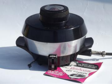 Worning vintage Sunbeam egg cooker poacher E3B3, complete w/ manual